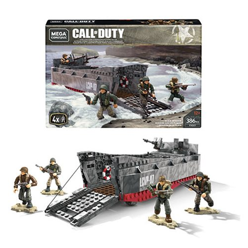 Call of Duty Mega Construx WWII Beach Invasion Playset