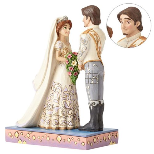 Disney Traditions Tangled Rapunzel and Flynn Wedding Statue