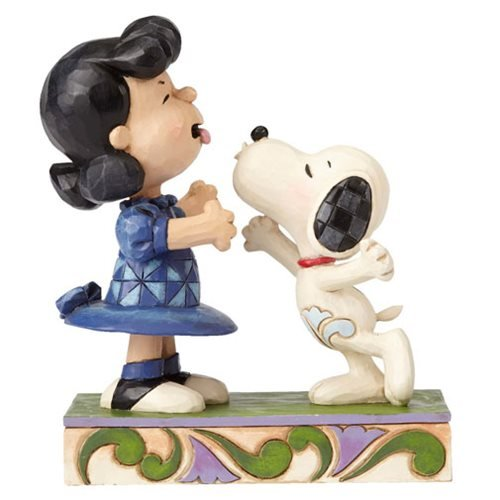 Peanuts Jim Shore Snoopy Kissing Lucy Statue