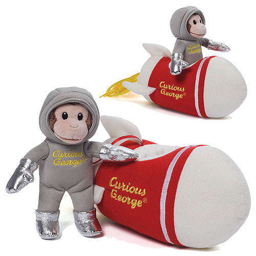 Curious George Rocket Ship Plush with Sound
