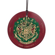 Harry Potter Hogwarts Christmas Holiday StarFire Prints Hanging Glass Ornament