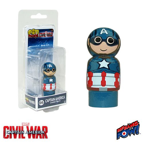 Captain America: Civil War Captain America Pin Mate Wooden Figure