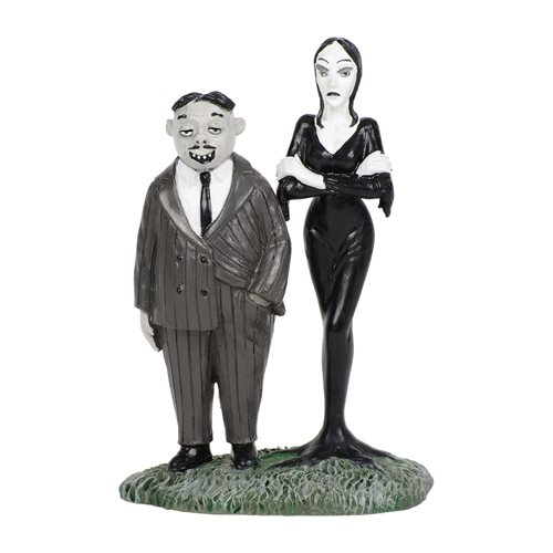 The Addams Family Hot Properties Village Gomez and Morticia Statue
