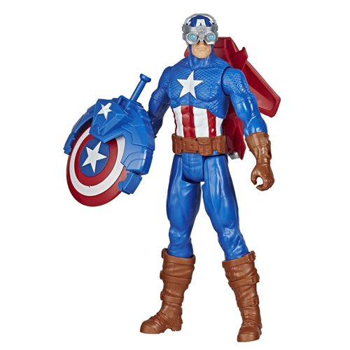Avengers Titan Hero Series Blast Gear Captain America 12-Inch Action Figure