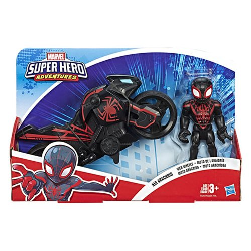 Marvel Super Hero Adventures Figure and Motorcycle Set