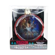 Stranger Things Poster Printed Glass 80mm Disc Ornament