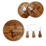 Ratatouille Acacia Brie Cheese Board and Tools Set
