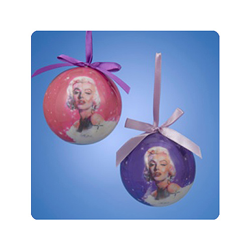 Marilyn Monroe 3-Inch Decoupage Ball Ornament Display Box