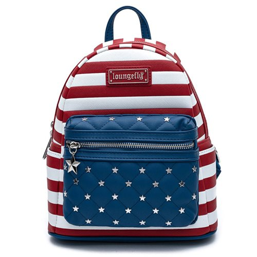 Loungefly Americana Quilted Mini-Backpack