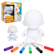 MUNNY Reusable DIY Toy with Wipe-Off Markers - White