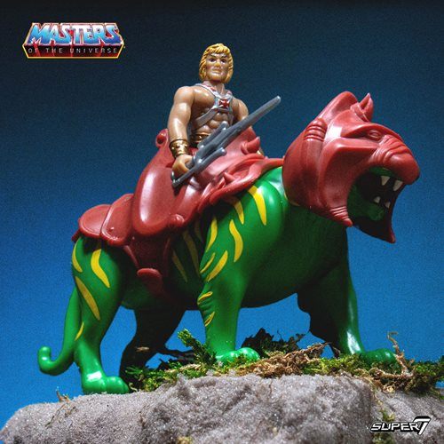 Masters of the Universe He-Man and Battle Cat ReAction Figures
