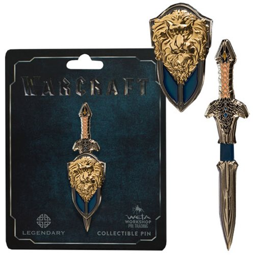 Warcraft Lothar Sword and Shield Dual Pin