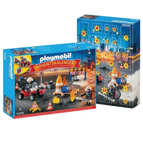 Playmobil 9486 Construction Site Fire Rescue Advent Calendar