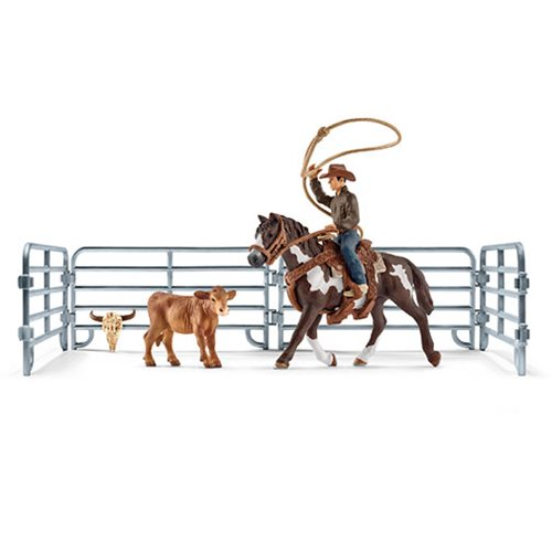 Farm World Team Roping with Cowboy Playset