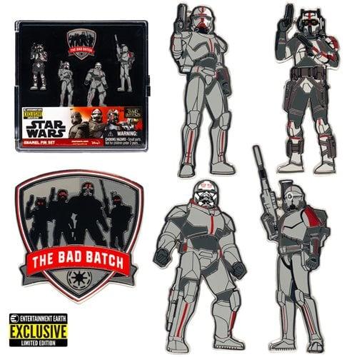 Star Wars: The Bad Batch Enamel Pin 5-Pack - EE Exclusive