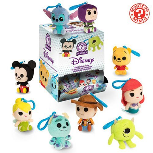 Disney Pixar Mystery Minis Plush Key Chain Random 6-Pack