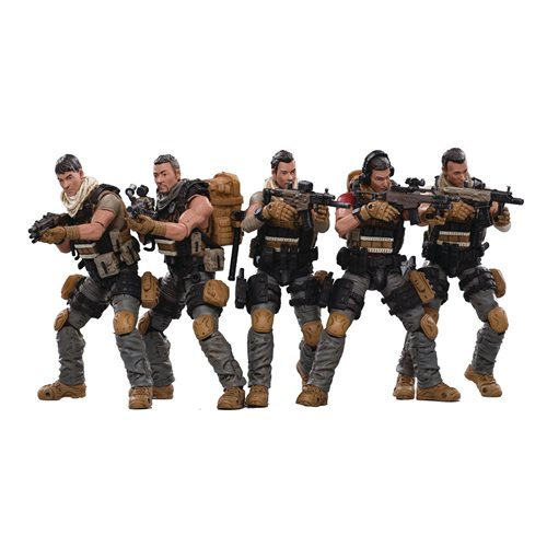 Joy Toy Pla Army Field Force 1:18 Scale Action Figure 5-Pack