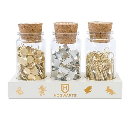 Harry Potter Glass Jar Office Accessories Set