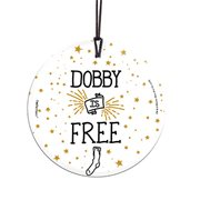 Harry Potter Dobby Is Free StarFire Prints Hanging Glass Ornament