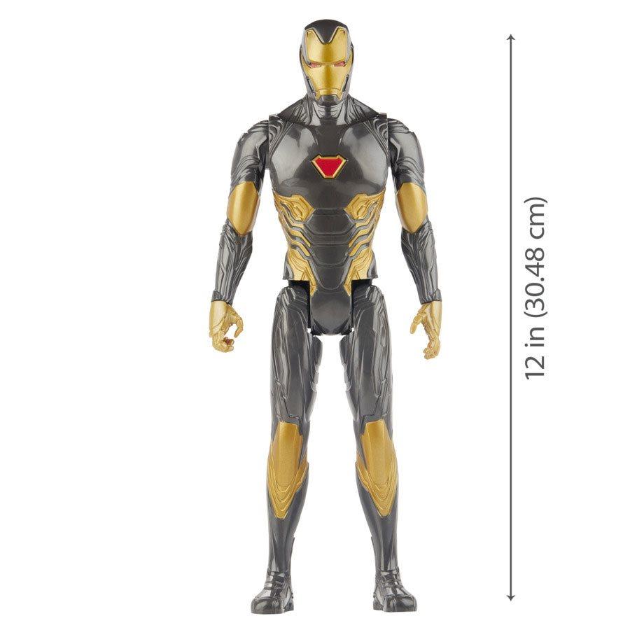 Marvel AVENGERS SERIE TITAN HERO IRON MAN BLACK /& GOLD IRON MAN 12-Inch Figura