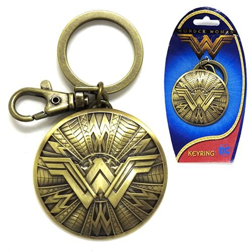 Wonder Woman Shield Pewter Key Chain