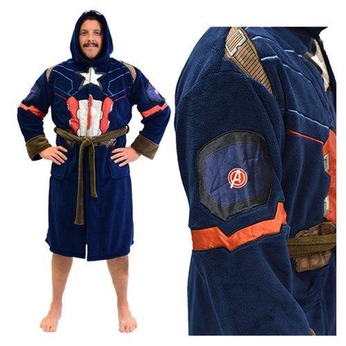 Marvel Captain America Civil War Hooded Fleece Bathrobe ... 0988ecf09