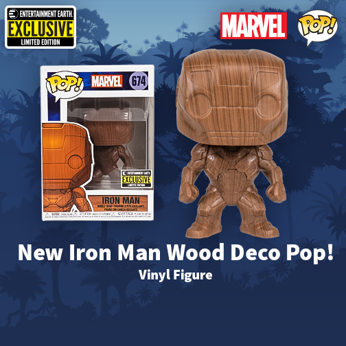 Funko Exclusive Wooden Iron Man