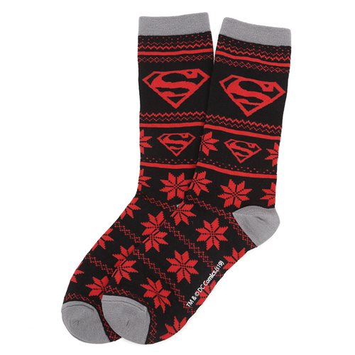 Superman Fair Isle Socks