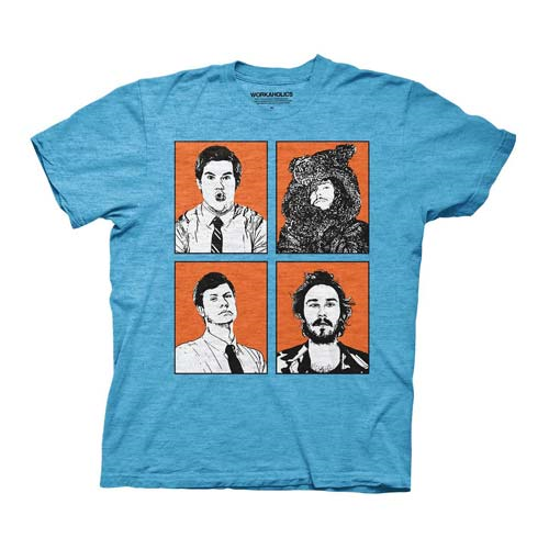 Workaholics Four Faces Blue T-Shirt