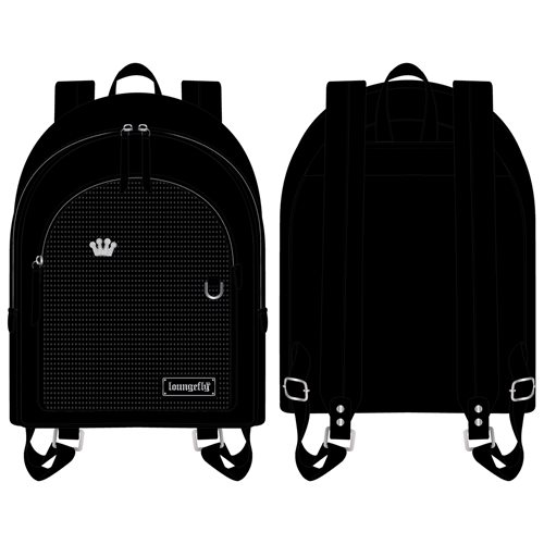 Loungefly Black Pin Trader Mini-Backpack