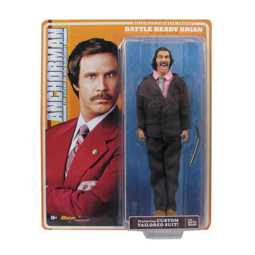 Anchorman The Legend of Ron Burgundy Battle Ready Brian 8-Inch Retro-Style Action Figure