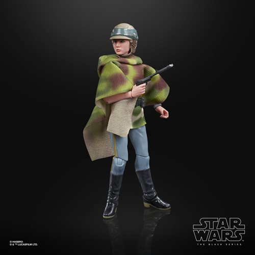 Star Wars The Black Series Princess Leia Organa (Endor Battle Poncho) 6-Inch Action Figure
