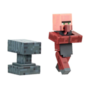 Minecraft Blacksmith Villager with Accessory 3-Inch Action Figure