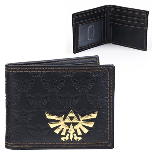 Legend of Zelda Embossed Gold Foil Bi-Fold Wallet