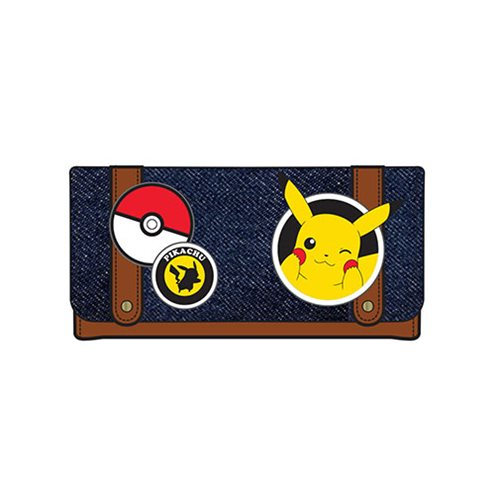 Pokemon Pikachu Patches Flap Wallet