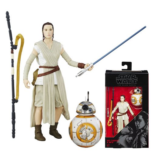 Star Wars The Force Awakens The Black Series Rey with BB-8 6-Inch Action Figure, Not Mint