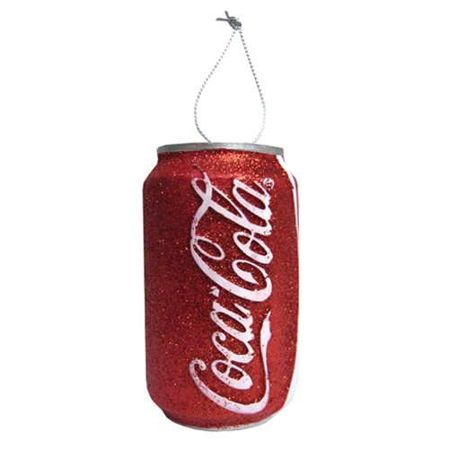 Coca-Cola Red Glitter Can 3 1/2-Inch Ornament