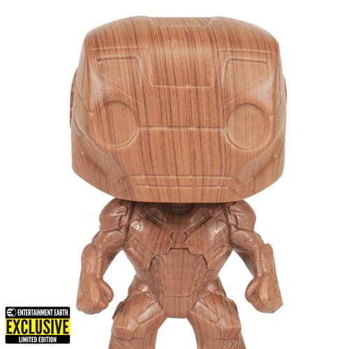 Iron Man Wood Deco Pop! Vinyl Figure - Entertainment Earth Exclusive