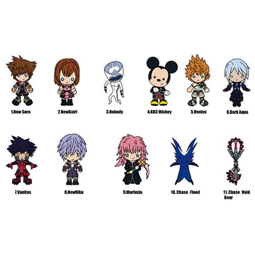 Kingdom Hearts Series 4 Figural Key Chain Random 6-Pack