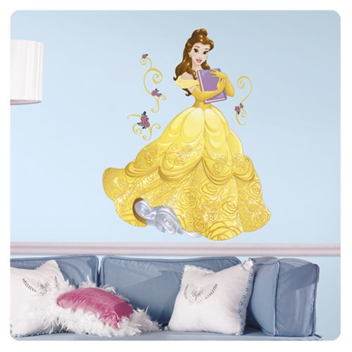 Beauty and the Beast Belle Disney Sparkling Princess Peel and Stick Giant Wall Decals