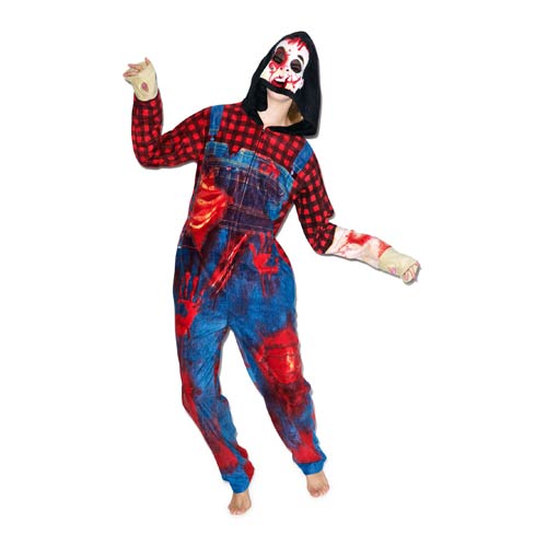 Zombie Hooded Onesie with Thumb Holes