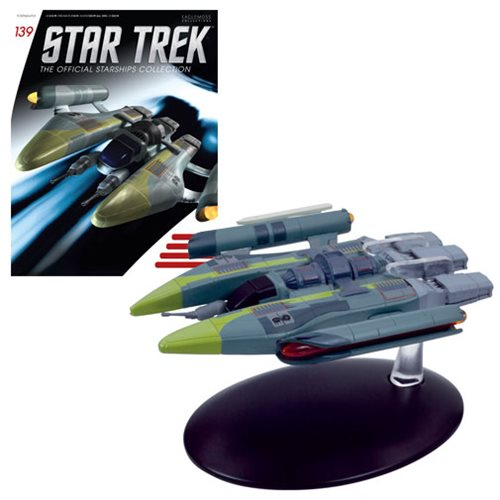 Star Trek Starships Vaaduar Fighter Die-Cast Metal Vehicle with Collector Magazine #139