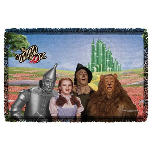 The Wizard of Oz Emerald City Woven Tapestry Throw Blanket