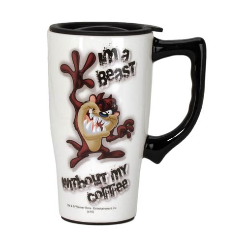 Looney Tunes Tasmanian Devil Travel Mug with Handle