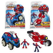 Marvel Super Hero Adventures Spider-Man Vehicles Wave 1 Set