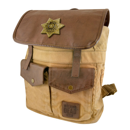 The Walking Dead Sheriff Rick Grimes' Desert Brown Backpack