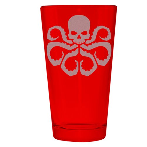 Marvel Avengers Hydra Etched Pint Glass
