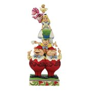 Disney Traditions Alice in Wonderland Stacked We're All Mad Here by Jim Shore Statue