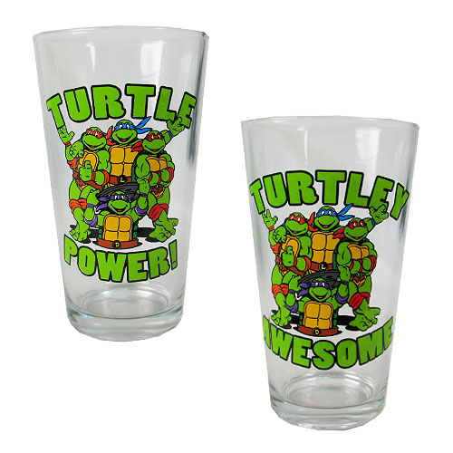 Teenage Mutant Ninja Turtles Power and Awesome 16 oz. Pint Glass 2-Pack