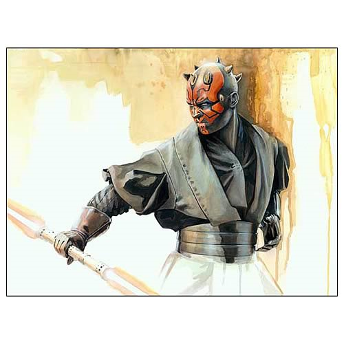 Star Wars Darth Maul Jedi Slayer Canvas Giclee Print